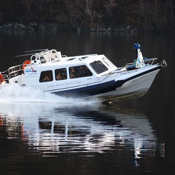 Our luxury cabin RIB, Deborah Leah takes part in bringing Loch Ness to Google Street View